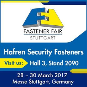 The Security Fastener Experts are coming to Stuttgart 2017