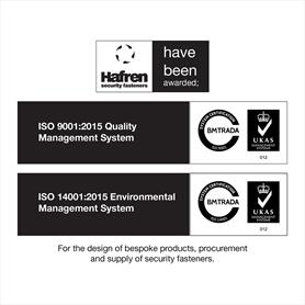 Hafren Fasteners achieves ISO accreditations