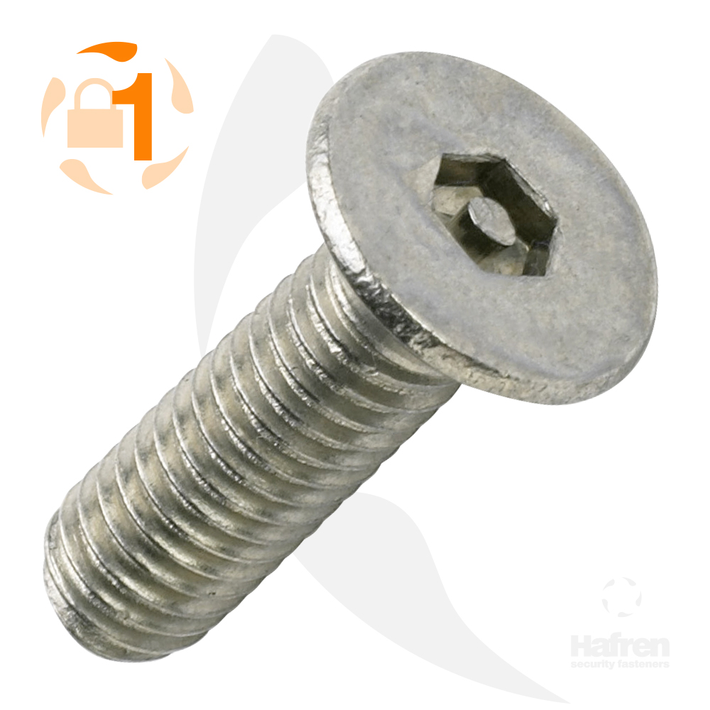 M3 x 10mm Countersunk A2 Stainless Steel Pin Hex Machine Screw