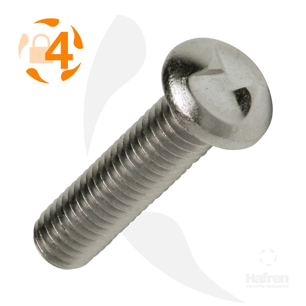 M3 x 50mm Round Head A2 Stainless Steel Clutch Head Machine Screw