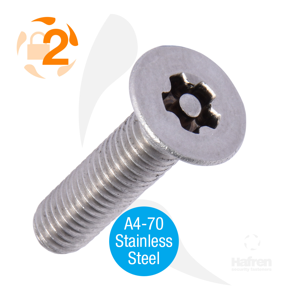 M3 x 6mm Button Head A4-70 Stainless Steel 5-Lobe Pin Machine Screw