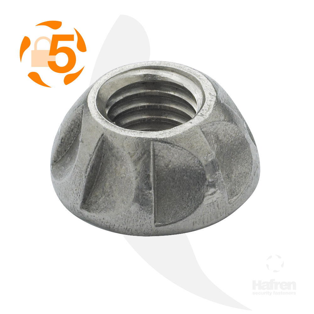 M5 A2 Stainless Steel Kinmar® Permanent Nut
