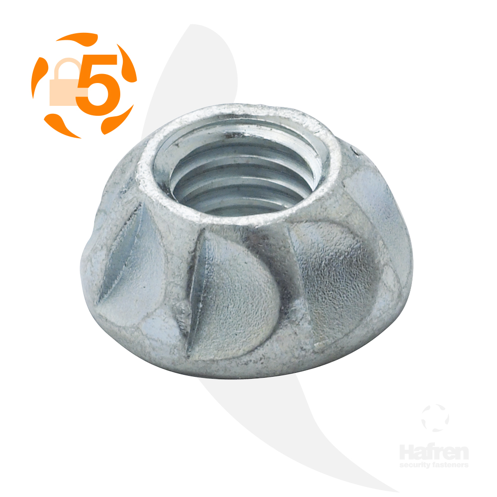 M5 Case Hardened Steel Bright Zinc Plated Kinmar® Permanent Nut