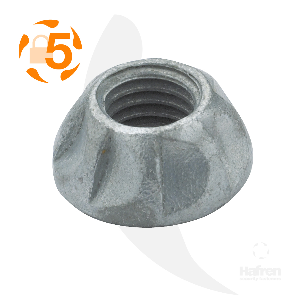 M8 Case Hardened Steel Geomet® Kinmar® Permanent Nut