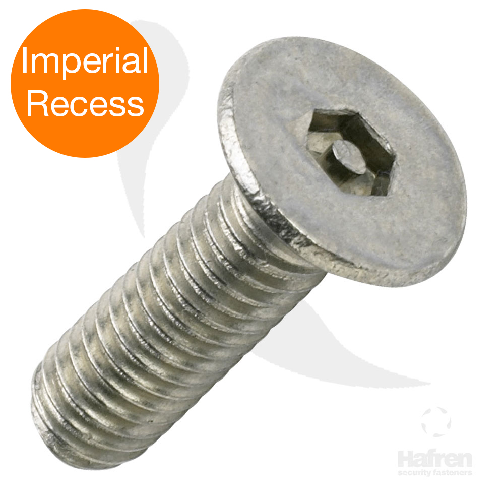 Imperial Recess Countersunk A2 Stainless Steel Pin Hex Machine Screw