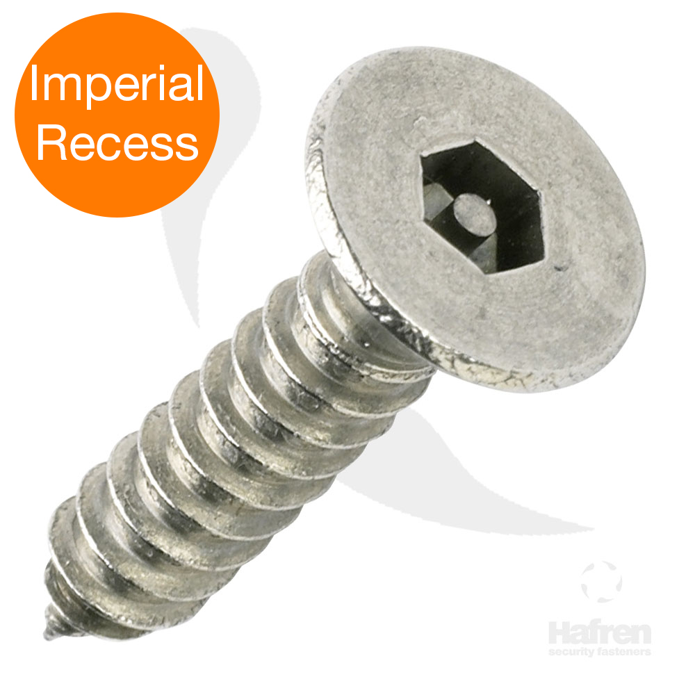 Imperial Recess Countersunk A2 Stainless Steel Pin Hex Self Tapper