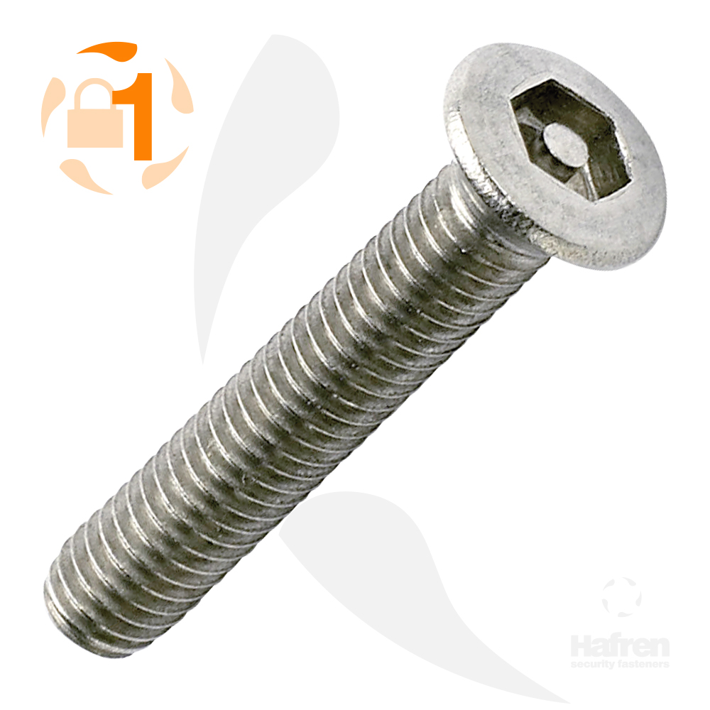 M3.5 x 12mm Raised Countersunk A2 Stainless Steel Pin Hex Machine Screw