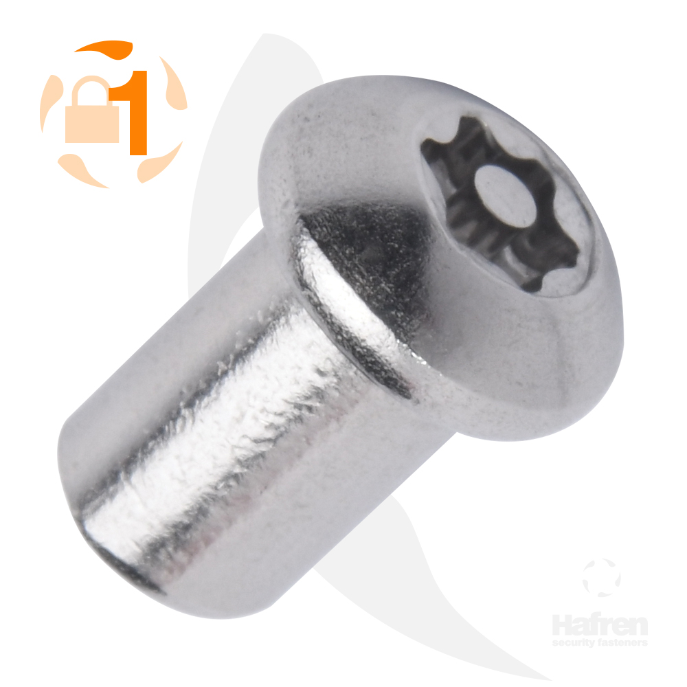 M4 x 10mm Button Head A2 Stainless Steel 6-Lobe Pin Barrel Nut