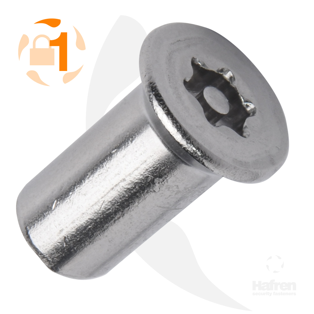 M4 x 12mm Countersunk A2 Stainless Steel 6 Lobe Pin Barrel Nut
