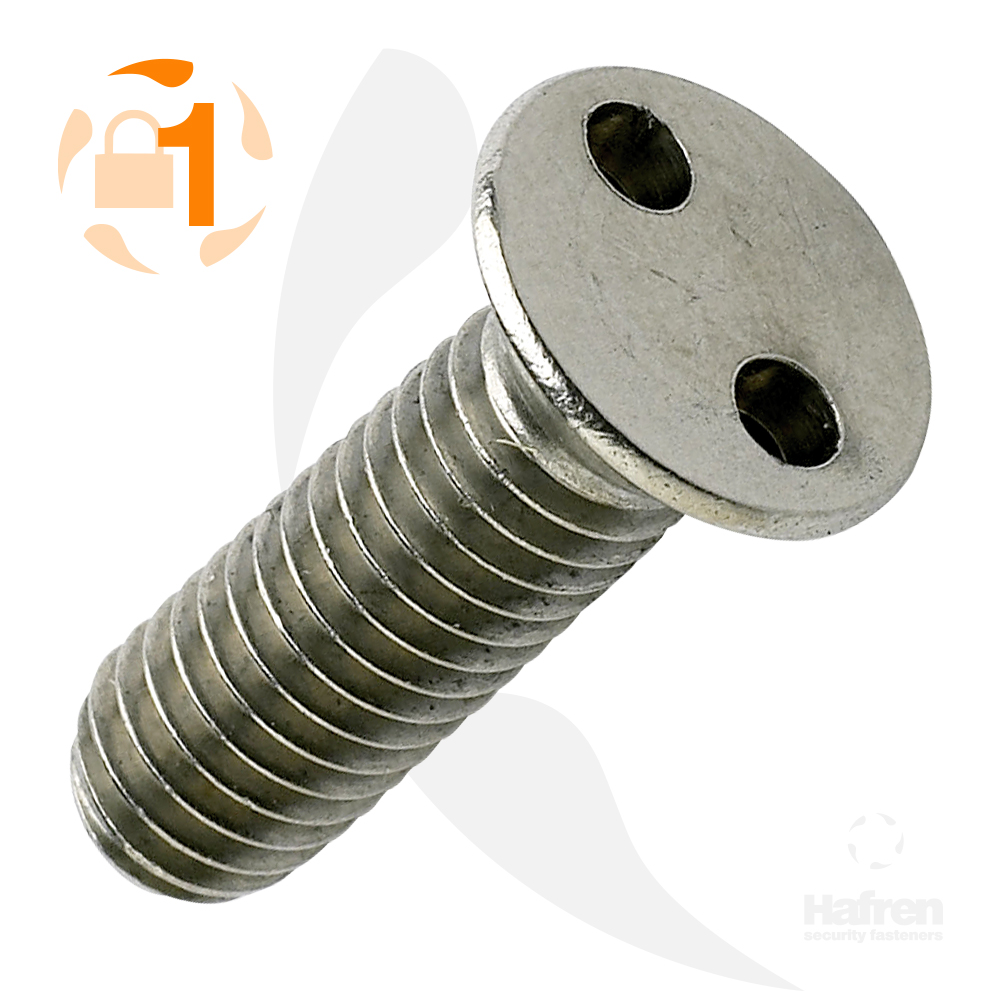 M3 x 8mm Countersunk A2 Stainless Steel 2-Hole Machine Screw